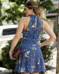 Blue print dress Trendy Summer Outfits, Dressy Outfits, Cute Dresses, Casual Dresses, Short Dresses, Princes Fashion, Evening Dresses, Summer Dresses, Frock Design