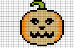 Jack O Lantern Pixel Art from BrikBook.com #jackolantern #halloween #spiritofhalloween #fridaythe13th #pumpkin #8bit #pixelart #pixel Shop more designs at http://www.brikbook.com