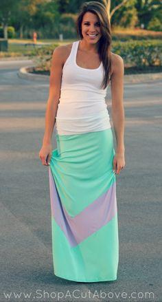 http://www.shopacutabove.com/product/big-time-chevron-maxi-skirt-mint-lilac/
