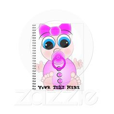 Notebook with baby girl from Zazzle.com
