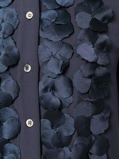 Paul & Joe платье-рубашка с цветочной аппликацией