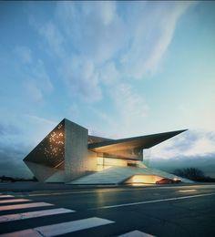 Modern Architecture Design, Futuristic Architecture, Concept Architecture, Modern Buildings, Amazing Architecture, Modern House Design, Landscape Architecture, Origami Architecture, Architecture Apps