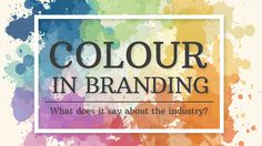The connections between certain colours and industries are revealed in this infographic.