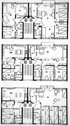 Flexible Floorplan, Wohnzeile, Weissenhofsiedlung, Mies van der Rohe