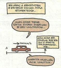 charming life pattern: karikatür - bir araç A şehrinden B şehrine...