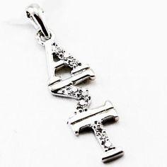 Alpha Sigma Tau Diamond Lavalier Pendant