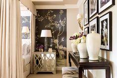 Glamorous bedroom by Michael Hampton Design