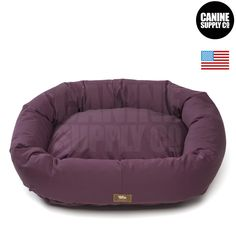 Bumper dog beds with an eco-friendly organic cotton outer fabric are filled with thick denier 100% recycled IntelliLoft® polyfill made from recycled plastic. Cushions do not bunch or flatten from extr