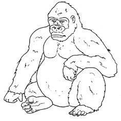 70920-gorilla-coloring-pages-1.gif (800×800) | xb2117 - cannon ... - Silverback Gorilla Coloring Pages