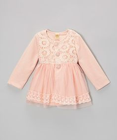 Another great find on #zulily! Pink Pearls & Flowers Lace Jacket - Toddler & Girls #zulilyfinds