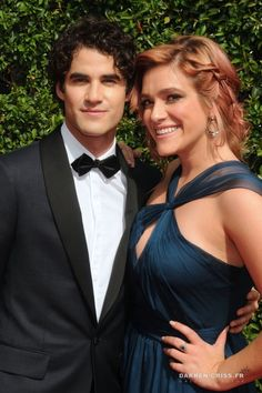 Mia and Darren Criss at the Television Academy's Creative Arts Emmy Awards on September 12, 2015