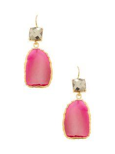 Pink Chalcedony Product Launch, Drop Earrings, Womens Fashion, Pink, Jewelry, Jewlery, Jewerly, Schmuck, Drop Earring