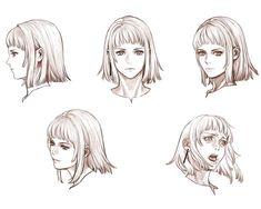 Manah Face Sketches from Drakengard 2