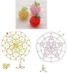 Crystal Apple - Beaded Jewelry Patterns 手工串珠苹果
