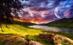 Betrachten, herunterladen, kommentieren und bewerten Sie diese 1920x1200 Sunset on the planet lost Wallpaper - Wallpaper Abyss