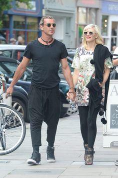 Gwen Stefani and Gavin Rossdale in London