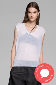 asymmetrical bra for those paper thin tees. or maybe just a sports bra would do...