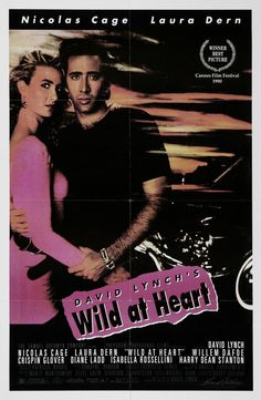 """Corazón salvaje (1990) """"Wild at Heart"""" (original title)   Young lovers Sailor and Lula run from the variety of weirdos that Lula's mom has hired to kill Sailor.  Director: David Lynch"""