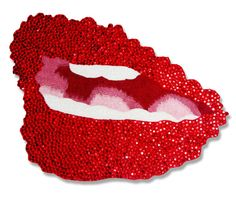 Lips   From a unique collection of mixed media at http://www.1stdibs.com/art/mixed-media/