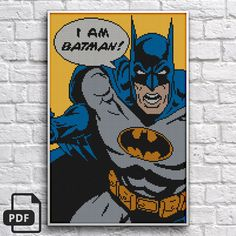 Batman Cross Stitch Pattern INSTANT DOWNLOAD by DeepKaplio on Etsy