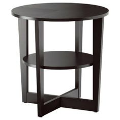 Black Wedge Side Table