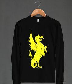 American Apparel dragon Unisex Long Sleeve Tee / Black