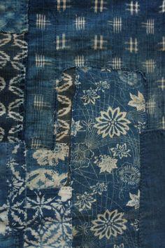 1960's Vintage Indigo Japanese Boro Textile