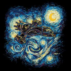Van Gogh continues to show love for all things geeky with the Firefly Starry Night T-Shirt. I always suspected he had a 'brown coat' hanging in his closet. What is it about the famous artist that has caused fans of various geekdoms to mix his work with popular franchises like Batman