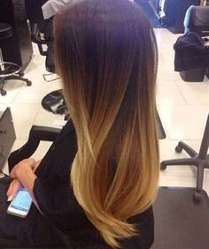 Beautiful smooth ombre