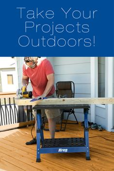 This summer, enjoy more time building outside. With the help of our mobile supports, you can take your wood projects virtually anywhere! Outdoor Projects, Wood Projects, Kreg Tools, Kreg Jig, Just Relax, Bbq Grill, Family Activities, Diy Hacks, Your Space