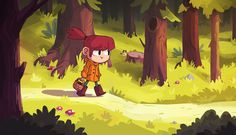 A walk in the woods on Behance