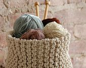 Cestello a maglia grande a mano - fatta per ordine