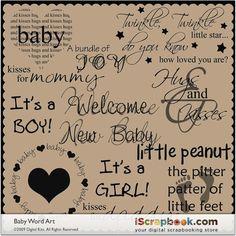 the word babies   baby word art $ 3 00 josie stewart cute word art to add a special ...