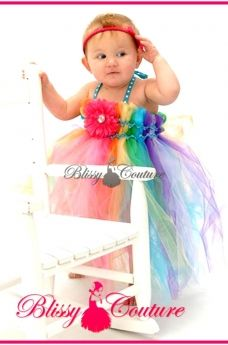 Rainbow Pageant Tutu Dress