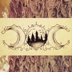 Forest moon ~ tattoo design for a lovely woodland elf in Switzerland ✨