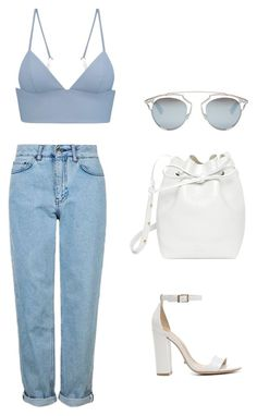"""Shopping day"" by mandyrobbie on Polyvore featuring moda, Schutz, T By Alexander Wang, Topshop, Mansur Gavriel e Christian Dior"