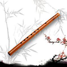 Tradicional 6 Hoyos Flauta De Bambú Estudiante Clarinete Instrumento Musical de Madera de Color