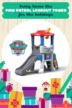 Enter the 12 Days of Nick Jr. Sweepstakes for your chance to win this life-size PAW Patrol Lookout Tower Playset and other prizes! If you're looking for the perfect holiday gift for your preschooler PAW patrol fan, snag this awesome gift off their wishlist. Enter to win it for Christmas or Hanukkah, and get the chance to play PAW Patrol outdoors year-round!