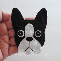 Boston Terrier Applique,Boston Terrier Embellishment,  Boston Terrier, Scrapbook Dog, Dog Embellishments, Fabric DogsMade to Order