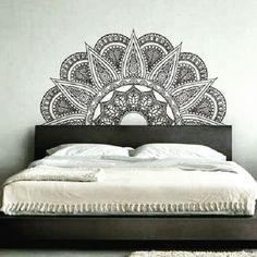 Room Decor Pared Mandalas 49 New Ideas Home Bedroom, Bedroom Wall, Bedroom Decor, Bedroom Interior Colour, Interior Colors, Mandala Mural, Wall Drawing, Beautiful Bedrooms, Paint Designs