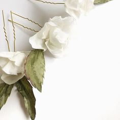 Midsummer hair pins are one of our most loved wedding hair accessories and they can be made in every color, but the white is hands down the most desired. Every single one is painted by hand! Nordic Wedding, Scandinavian Wedding, Headpiece Wedding, Bridal Headpieces, Hair Wedding, Veil Hairstyles, Wedding Hairstyles, Bridesmaid Hair, Bridesmaids