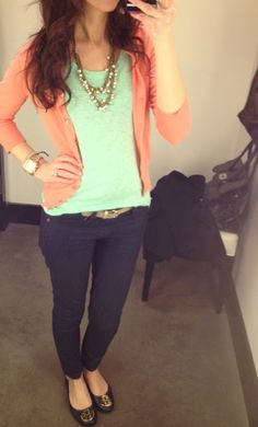 mint and coral and navy!