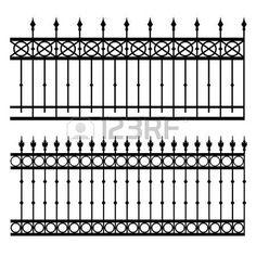 valla de hierro ilustración vectorial