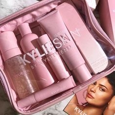 Shop Kylie Skin by Kylie Jenner. All our products are cruelty free, vegan, gluten free, paraben free, sulfate free and dermatologist tested. Safe for all skin types. Kardashian Beauty, Kylie Jenner Makeup, Kendall Jenner, Beauty And Beast Wedding, Elegant Wedding Hair, Kylie Cosmetic, Make Up Collection, Aesthetic Makeup, Skin Makeup