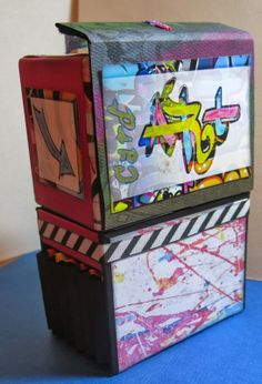 Masculine Inspirations in Paper & Crafts: Graffiti Card Art Box - by Debby Henderson
