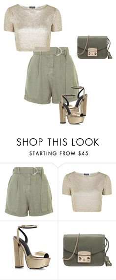 """""""Casual"""" by cristalmichel ❤ liked on Polyvore featuring Topshop, KG Kurt Geiger and Furla"""