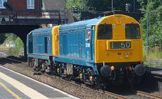 20189 and 20205 in Birmingham, 2016 - Robert C Jones Electric Locomotive, Diesel Locomotive, Steam Locomotive, British Rail, Electric Train, Train Pictures, Train Engines, Train Layouts