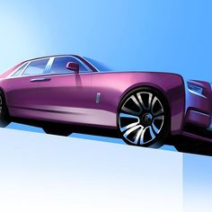 Learn how to draw a car using our step by step tutorials. Sports cars, classic cars, imaginary cars - we will show you how to draw them like the pros. Rolls Royce Phantom, Car Design Sketch, Car Sketch, Automobile, Industrial Design Sketch, Car Drawings, Car Painting, Transportation Design, Future Car