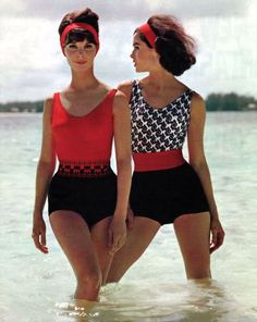 Beach Fashion. Why can't they sell bathing suits like this any more?!?!?!