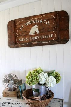LIVERY and STABLE Wood Sign Hand Painted by TheVirginiaHouse, $190.00
